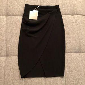 Misguided Asymmetrical Side Midi Skirt